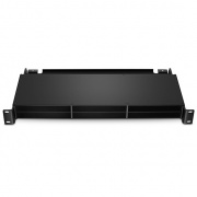 1U Rack Mount Superior Ultra HD Fiber Enclosure Unloaded, Holds up to 6x FHZ MPO/MTP-12 Cassettes