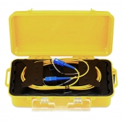 Fiber Optic OTDR Launch Cable Box, Singlemode 2km SC/UPC – SC/UPC Fiber