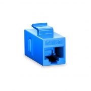 Cat5e 8P8C Unshielded RJ45 Coupler Keystone Insert Module - Blue