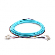 24 Fibers LC/SC/FC/ST OM3 Multimode Indoor Tight-Buffered Multi-Fiber Breakout Cable