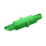 LSH/APC to LSH/APC Simplex Single Mode Plastic Fiber Optic Adapter/Mating Sleeve with Flange