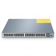 Управляемый PoE+ Коммутатор Уровня 2+ с 48 Портами 10/100/1000Base-T и 4 SFP+ Слотами, PoE IEEE 802.3af/at (30 Вт), PoE Бюджет 600 Вт