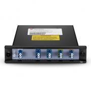 4 Channels 1510-1570nm, LC/UPC, Dual Fiber CWDM Mux Demux, FMU Plug-in Module
