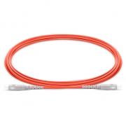2m (7ft) SC UPC to SC UPC Simplex 2.0mm PVC (OFNR) OM1 Multimode  Fiber Optic Patch Cable