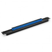 "FHU - 1U 19"" Fibre Patch Panel - 24 SC Simplex OS2/OM3/OM4 Adapters"