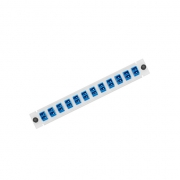 24 Fibers, 12 Ports LightSpace APL12-LDS Compatible with 12 LC Duplex OS2 Singlemode Adapter (Blue), Zirconia Ceramic