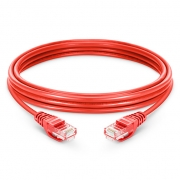 6.6ft (2m) Cat5e Snagless Unshielded (UTP) PVC Ethernet Network Patch Cable, Red