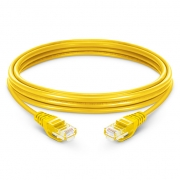 3.3ft (1m) Cat5e Snagless Unshielded (UTP) PVC Ethernet Network Patch Cable, Yellow
