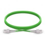 5m (16ft) SC UPC to SC UPC Duplex 2.0mm PVC (OFNR) OM5 Multimode Wideband Fiber Optic Patch Cable