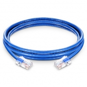 6in (0.15m) Cat6 Non-booted Unshielded (UTP) PVC CM Ethernet Network Patch Cable, Blue