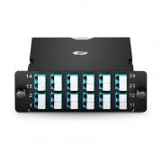 2x MTP-12 to 12x LC Duplex, Type A, 24 Fibers OM4 Multimode FHD MTP/MPO Cassette