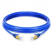 3.3ft (1m) Cat7 Snagless Shielded (SSTP) PVC Ethernet Network Patch Cable, Blue