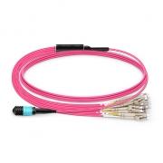24-144 Fasern MPO Breakoutkabel, OM4 Multimode 24 Stränge 3,0mm