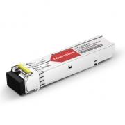 Cisco GLC-BX40-D-I Compatible 1000BASE-BX-D BiDi SFP 1550nm-TX/1310nm-RX 40km DOM Transceiver Module