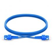 Jumper de fibra óptica 3m (10ft) SC UPC a SC UPC dúplex monomodo blindado PVC (OFNR)