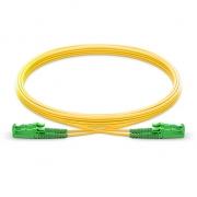 LWL-Patchkabel, 15m (49ft) LSH APC auf LSH APC Duplex Stecker, 9/125 Singlemode PVC(OFNR) 2,0mm