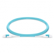 3m (10ft) LC UPC Uniboot Duplex Flat Clip 2.0mm OM4 Multimode BIF Fiber Patch Cable, PVC (OFNR)