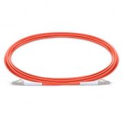 3m (10ft) LC UPC to LC UPC Simplex 2.0mm PVC (OFNR) OM1 Multimode  Fiber Optic Patch Cable