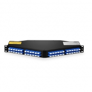 96 Fibers 8x MTP/MPO-12 to LC/UPC Single Mode 1U 10/40/100GB Breakout Patch Panel Angled, Type A