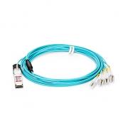15m (49ft) Dell Force10 CBL-QSFP-8LC-AOC15M Compatible 40G QSFP+ to 4 Duplex LC Breakout Active Optical Cable