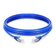 23ft (7m) Cat 6a Patchkabel, Snagless geschirmtes SFTP RJ45 LAN Kabel, PVC Blau