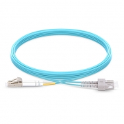 2m (7ft) LC UPC to SC UPC Duplex 2.0mm PVC (OFNR) OM4 Multimode  Fiber Optic Patch Cable