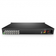 16 Channel HD-TVI over Optical Fiber Transmitter and Receiver Set