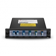 4 Channels 1510-1570nm Dual Fiber CWDM Mux Demux with Expansion Port, FMU Plug-in Module, LC/UPC