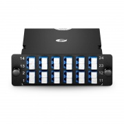 MTP-24 to 12x LC Duplex, Type A, 24 Fibers OS2 Single Mode FHD MTP/MPO Cassette