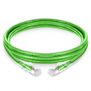 6in (0,15m) Cat 5e Patchkabel, Snagless ungeschirmtes UTP RJ45 LAN Kabel mit transparenter Hülle, PVC CM, Grün