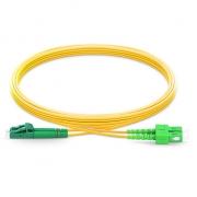 2m (7ft) LC APC to SC APC Duplex 2.0mm PVC(OFNR) OS2 Singlemode Bend Insensitive Fiber Patch Cable