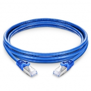 6in (0.15m) Cat6a Snagless Shielded (SFTP) PVC Ethernet Network Patch Cable, Blue