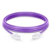 6in (0.15m)Cat5e sin carcasa sin blindaje (UTP) PVC Cable de conexión de red de Ethernet, púrpura