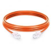 3.3ft (1m) Cat5e sin carcasa sin blindaje (UTP) PVC Cable de conexión de red de Ethernet, naranja
