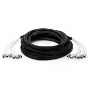 15m (49ft) 6 Jack to 6 Jack Cat6a Shielded (SFTP) PVC CMR(Off-White) Pre-Terminated Copper Trunk Cable