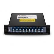 9 Channels 1290-1610nm Single Fiber CWDM Mux Demux, Side-B, Plug-in Module, LC/UPC