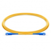 0.5m (1.6ft) SC UPC to SC UPC Simplex OS2 Single Mode PVC (OFNR) 2.0mm Fiber Optic Patch Cable