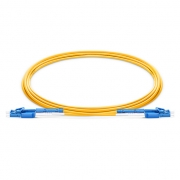 2m (7ft) LC-LC OS2 Singlemode Fiber Patch Cable, Uniboot with Push Pull Tabs