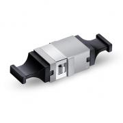 MTP/MPO Reduced Flange Black Fiber Optic Adapter, Aligned Key, Up to Up