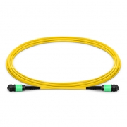 10m (33ft) MPO Female to Female 12 Fibers OS2 9/125 Single Mode Trunk Cable, Type A, Elite, LSZH, Yellow