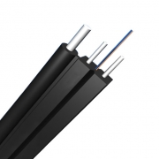 1 Fibre Singlemode 9/125 OS2, Metal Strength Member, LSZH Self-supporting FTTH Drop Cable GJYXCH