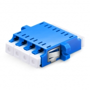 LC/UPC to LC/UPC 4 Cores Single Mode Plastic Fiber Optic Adapter/Mating Sleeve with Flange