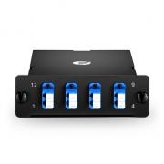MTP-8 MTP/MPO Breakout Cassette, 8 Fibers Single Mode, LC Duplex, 40G/100G to 10G/25G
