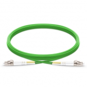 2m (7ft) LC UPC to LC UPC Duplex 2.0mm PVC (OFNR) OM5 Multimode Wideband Fiber Optic Patch Cable