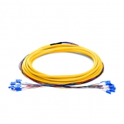 12 Fibers LC/SC/FC/ST 9/125 Single Mode Indoor Tight-Buffered Multi-Fiber Breakout Cable