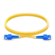 2m (7ft) SC UPC to SC UPC Duplex 2.0mm PVC (OFNR) 9/125 Single Mode Fiber Patch Cable
