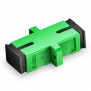 SC/APC to SC/APC Simplex Single Mode Fiber Optic Adapter/Mating Sleeve without Metal Clips with Flange