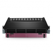 1U Rack Mount Ultra HD Fiber Enclosure Unloaded, Holds up to 12x FHX MPO/MTP-12 Cassettes or Fiber Adapter Panels