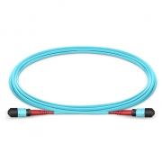 24 Fibres Female-Female OM3 Multimode MTP Trunk Cable, Type A, 1m