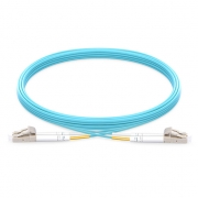 Latiguillo Cable de Fibra Óptica OM3 LC-LC UPC Dúplex PVC(OFNR) Multimodo - 10m - Azul Aguamarina
